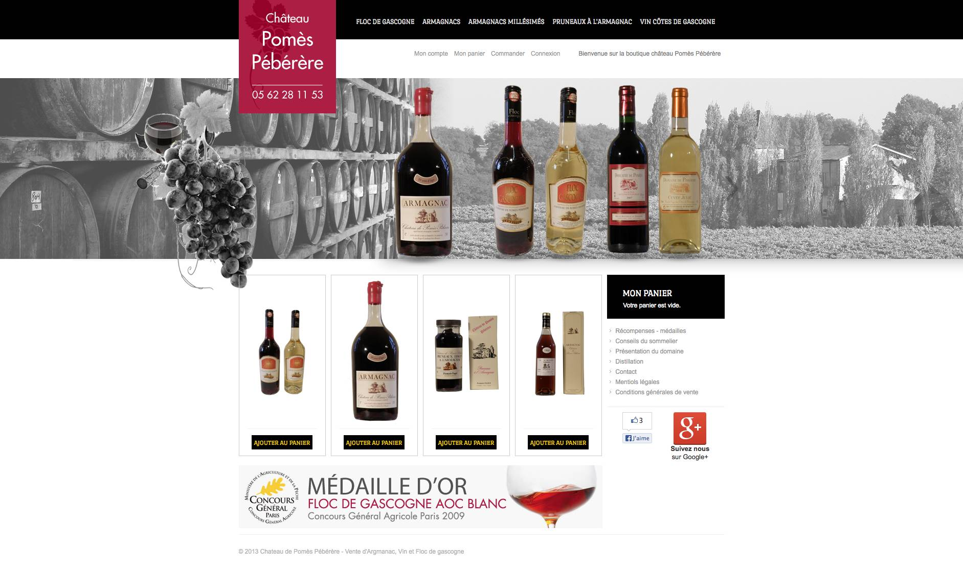 site magento commerce armagnac gers